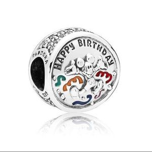 Pandora Mickey Mouse Happy Birthday Charm
